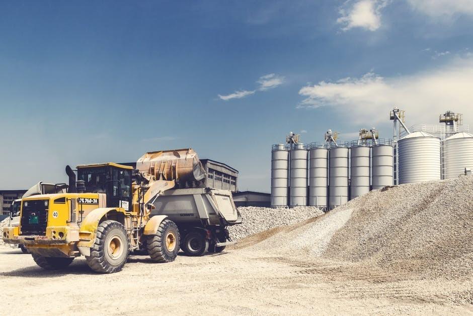 Truck hauling gravel